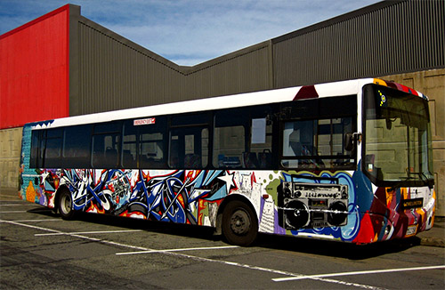 A Graffiti Bus!